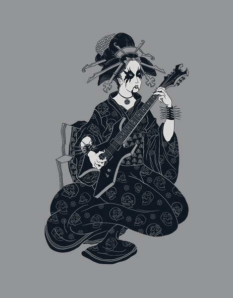 Black Metal Geisha Hero Shot