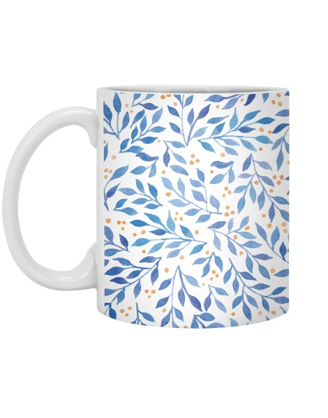 Berry Branches Pattern - Blue Palette Hero Shot