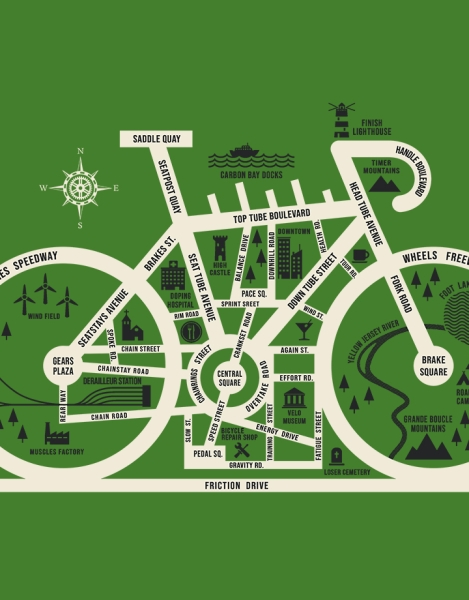 Bike City Map Hero Shot