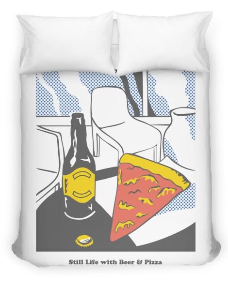 Beer & Pizza Hero Shot