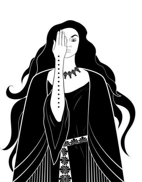 Art Nouveau Tarot Priestess Hero Shot