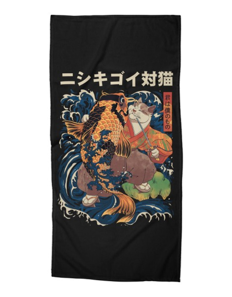 The Cat and the Koi (Black Variant) Hero Shot