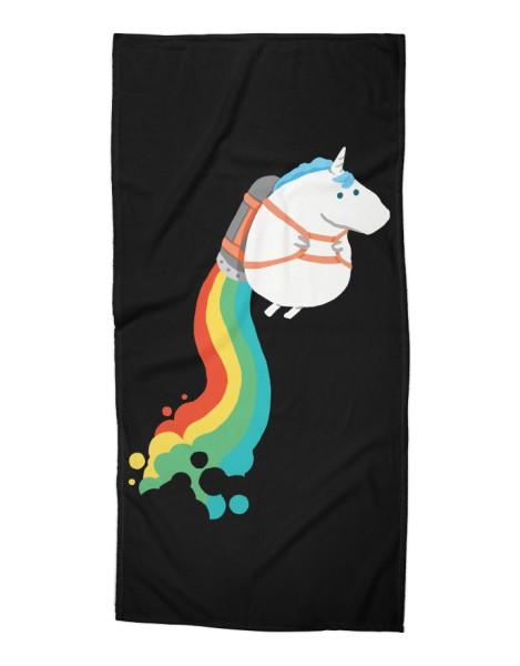 Fat Unicorn on Rainbow Jetpack (Black Variant) Hero Shot
