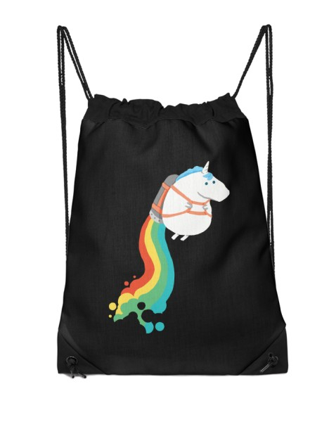 Fat Unicorn on Rainbow Jetpack (Black Variant) Hero Shot