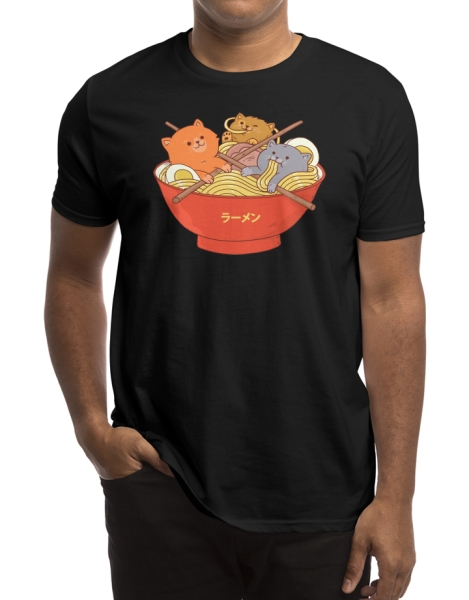 Ramen and cats (Black Variant) Hero Shot