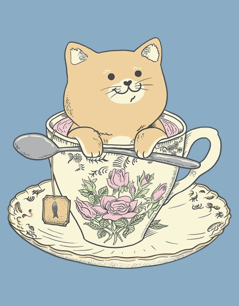 Tea cat time Hero Shot