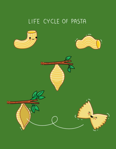 Life cycle of pasta Hero Shot