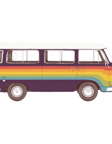 Van Rainbow Hero Shot