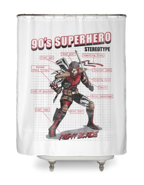 90s Superhero Stereotype Hero Shot