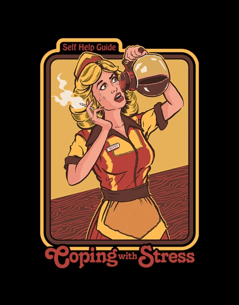 Coping with Stress (Black Variant) Hero Shot