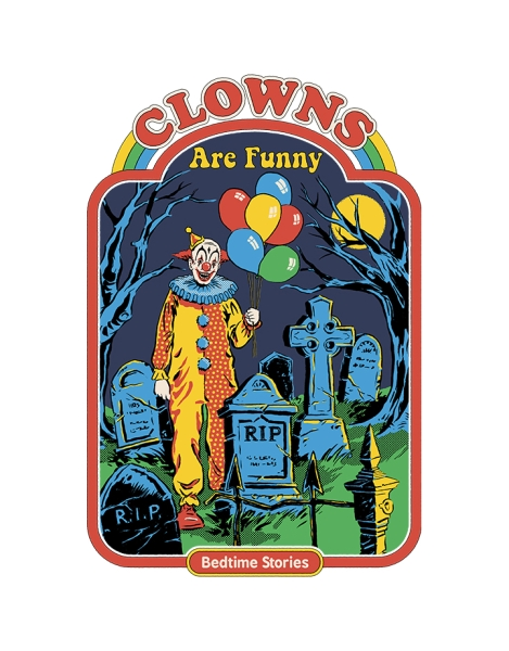 Clowns Are Funny (White Variant) Hero Shot