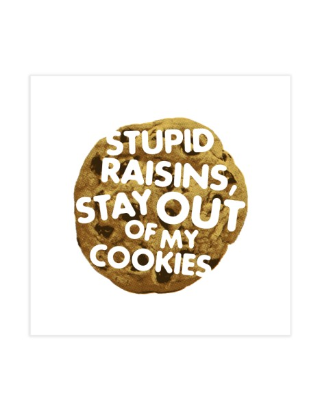 Stupid raisins, stay out of my cookies Hero Shot
