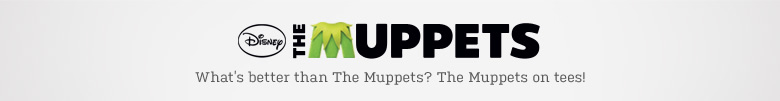 Muppets: What's better than the Muppets? The Muppets on tees.