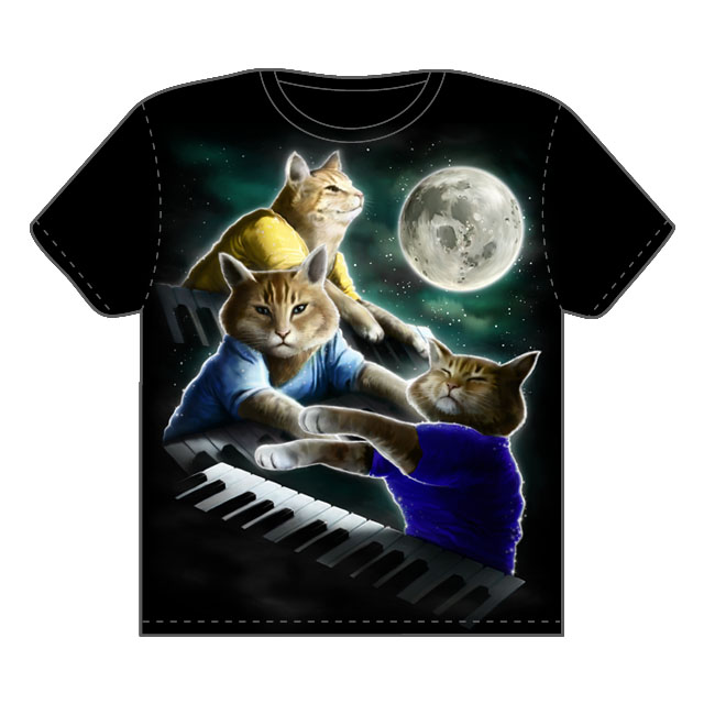 Three Keyboard Cat Moon by OXEN. on Threadless