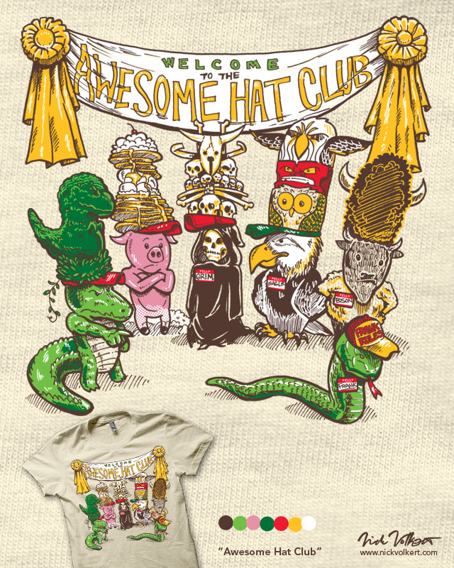 Awesome Hat Club by nickv47 on Threadless