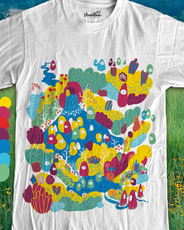 lumps bathing in their favourite pond by ginetteginette on Threadless