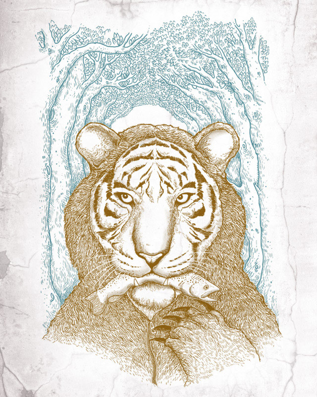 Tigers love trout by alvarejo on Threadless