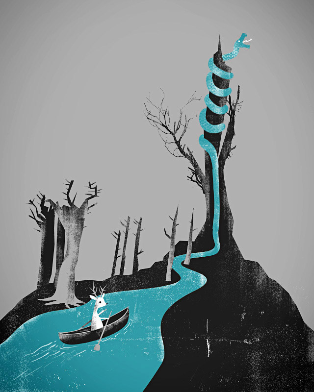 Deadly River Snaking Along by joaolauro on Threadless