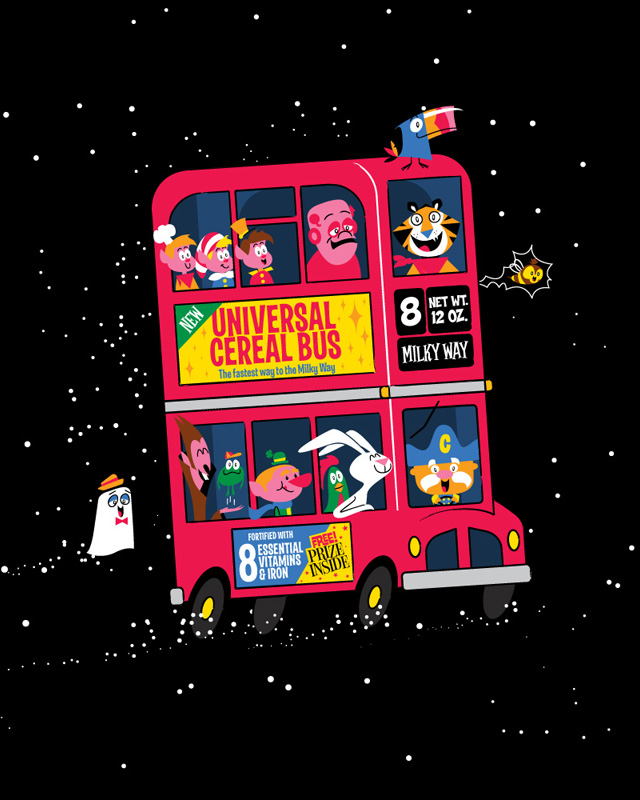 Universal Cereal Bus by Santo76 on Threadless