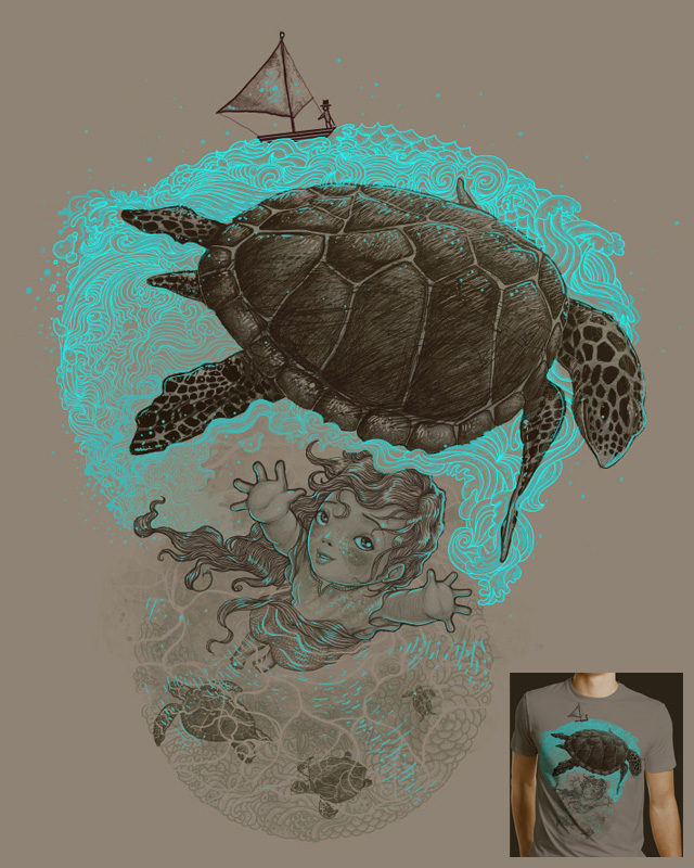 La niña y la tortuga by PUHL on Threadless