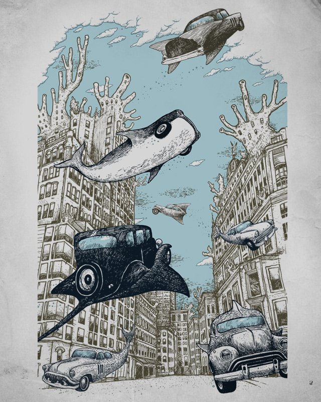 On the Streets of Atlantis by alvarejo on Threadless