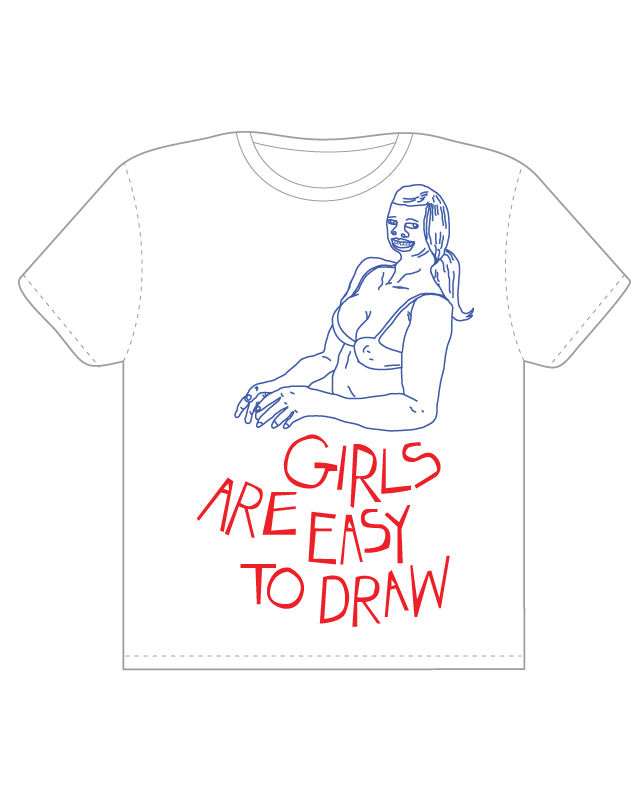 Girls are easy to draw, a cool t-shirt by BRANDARA on ...