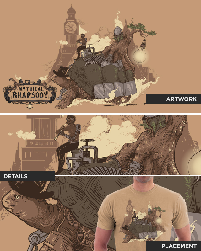 Mythical Rhapsody: King of the Earth by Steampunk Art on Threadless