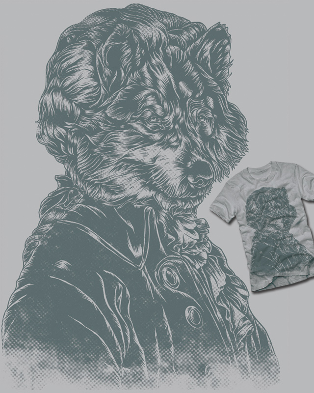 Wolf Amadeus Mozart by polynothing on Threadless