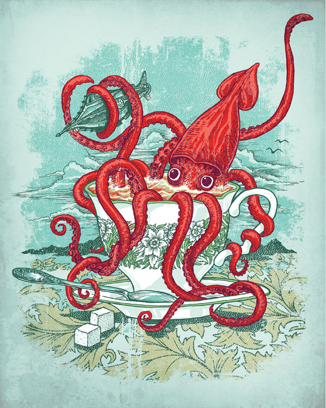 20,000 Leagues Under the Tea by blue sparrow on Threadless