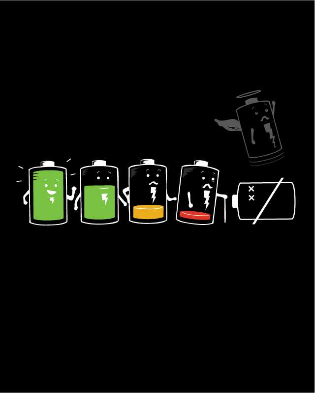 Battery Life by nathanwpyle at gmail.com on Threadless