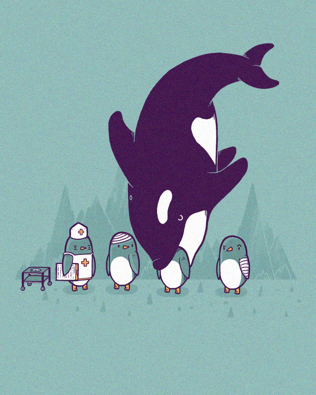 Nurse penguin has a long day by randyotter3000 on Threadless
