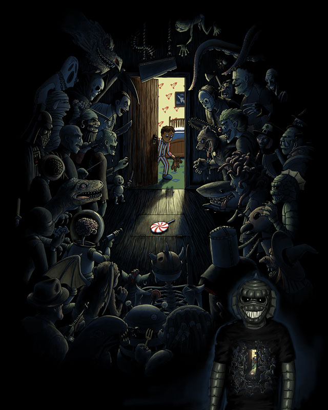 Be Afraid of the Dark by brainrust on Threadless