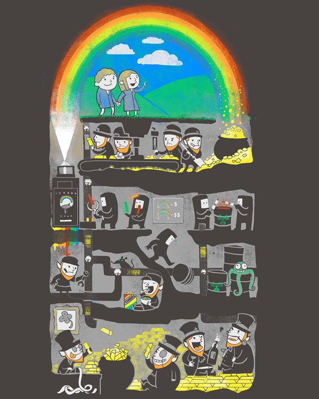 End of the Rainbow by queenmob on Threadless