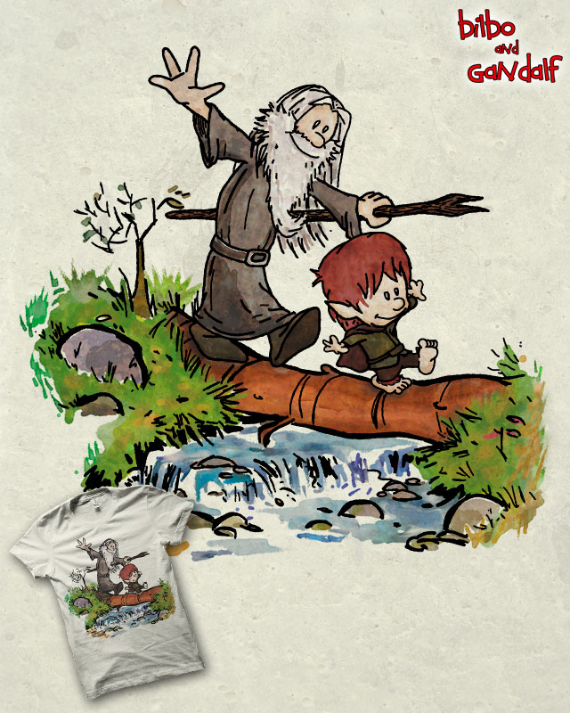 Bilbo and Gandalf