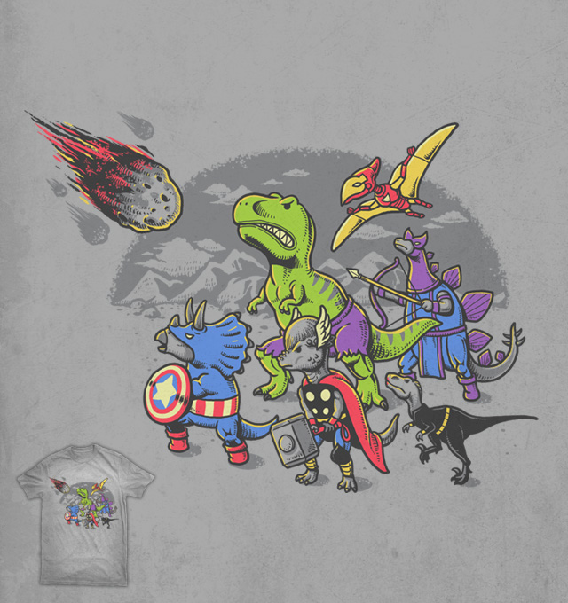 Dinosaur Avengers by ben chen on Threadless