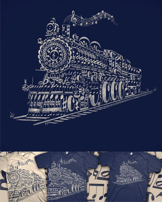 Train Song by caffeinart on Threadless