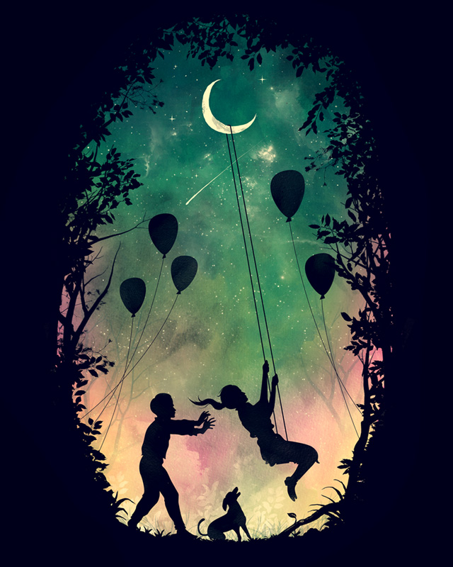 Night Swing by azrhon on Threadless