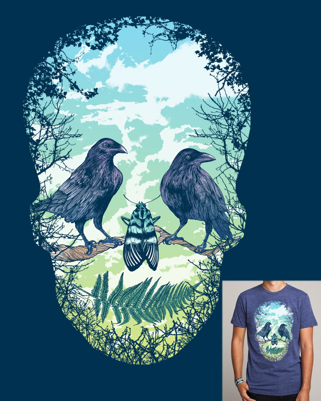 Nature's Skull by ThirstyFly on Threadless